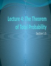 Lecture 4 Theorem of Total Probability.pptm