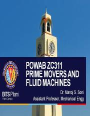 ME C332 PRIME MOVERS AND FLUID MACHINES- L7-8