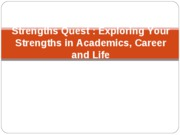 Strengths Finder Presentation for BA 324 STUDENT VERSION