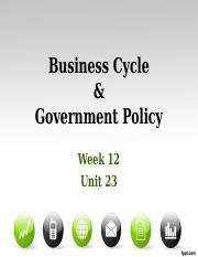 Week 12 - Business Cycle & Government Policy