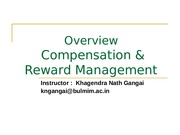Session#1 Introduction  to Compensation
