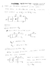 EE 3N03 Fall 2011 Midterm Exam Solutions