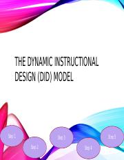 The Dynamic Instructional Design Did Model Pptx The Dynamic Instructional Design Did Model Step 1 Step 5 Step 3 Step 2 Step 4 The Dynamic Course Hero