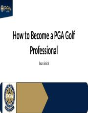 How to Become a PGA Golf Professional