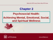 Chapter 2 - Psychosocial Health Fall 2013 (1)