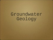 GEOL_0800_Groundwater