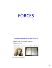 Lecture6 Ch4 Forces