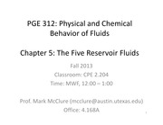 PGE312 CHAPTER 5 LECTURE