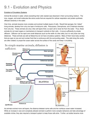 9.1 - Evolution and Phys...ATIVE ANIMAL PHYSIOLOGY