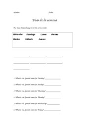 spanish_days_worksheet