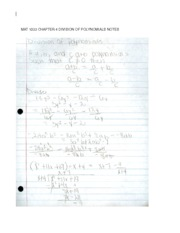 MAT1033 Chpater 4 notes