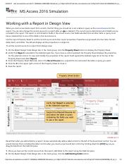 26 - Working with a Report in Design View
