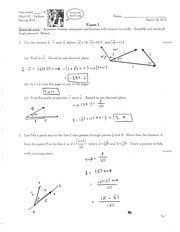 MATH 5c Spring 2013 Exam 1 Solutions