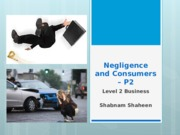 Negligence and Consumers – P2