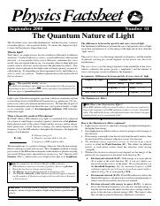 01 The quantum nature of light