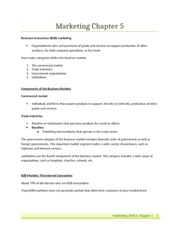 Marketing Chapter 5