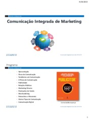 Comunicação Integrada de Marketing- 2015-2016-1