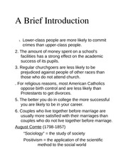 A Brief Introduction class notes