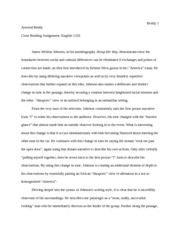 English Assignment- Close reading