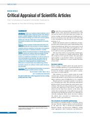Critical Appraisal of Scientific Articles.pdf