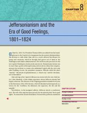 08 - Jeffersonianism and the Era of Good Feelings, 1801-1824
