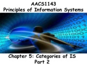 Chapter 5 Categories of IS 2 - Students 201516