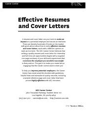 USC Guide for Resumes and Cover Letters.pdf