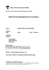 solutions MA1 mock exam 2