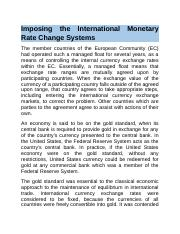 Imposing the International Monetary Rate Change Systems.docx