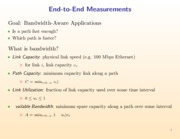 Bandwidth-Aware Applications notes