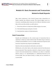 FABM Module 11 Basic Documents and Transactions Related to Bank Deposits.pdf