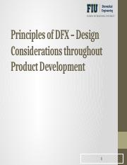 Lecture Series - DFX, Design, Test and Safety Standards