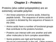 Ch. 2 Proteins
