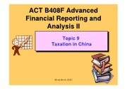 B408F Topic 9 Taxation in China (2012)