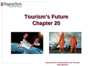 Chapter 20 Tourisms Future