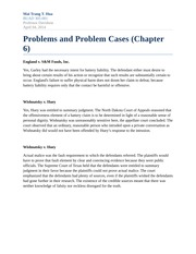 Homework Problems and Problem Cases (Chapter 6)