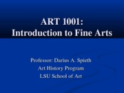 ART1001 Lecture 3