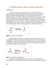 Lab 07 An Oxidation Reaction--Cyclohexanone to Adipic Acid