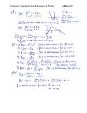 Solutions problems book lecture 4