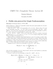 CMPT 710 Public Coin protocol Notes