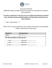 BSBINT405 Assessment Import Export-6 Resubmitted.docx