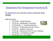 Employment Income (Deductions) - Student Version