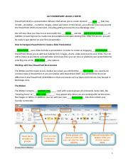 GCF POWERPOINT LESSON 1 NOTES