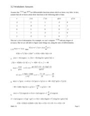 3.2 Worksheet Answers