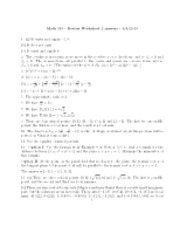 Study Guide 2 worksheet Solutions_MATH 113