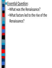 #2 The Rise of the Renaissance (2010-2011).ppt