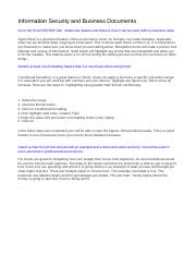 Information Security and Business Documents.doc