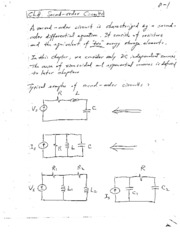 2nd Order Circuits Notes