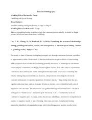 Bibliography for Essay.docx