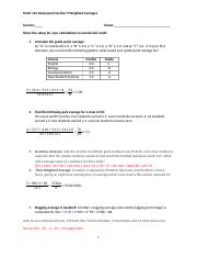 Homework help weighted averages
